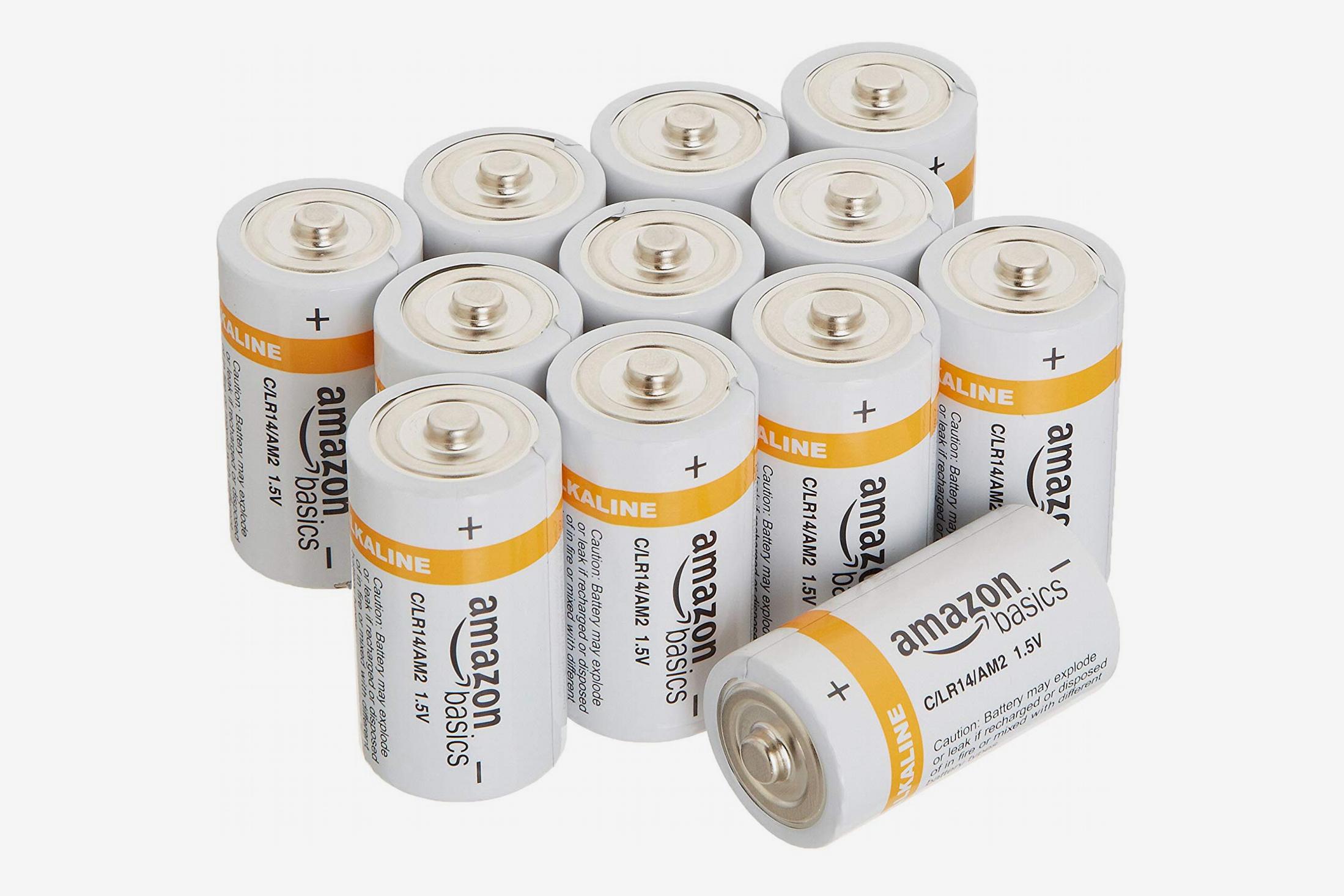 AmazonBasics C Cell 1.5 Volt Alkaline Batteries - Pack of 12