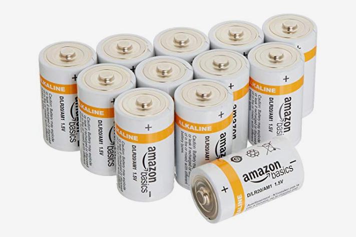 AmazonBasics D Cell 1.5 Volt Alkaline Battery - 12-Pack