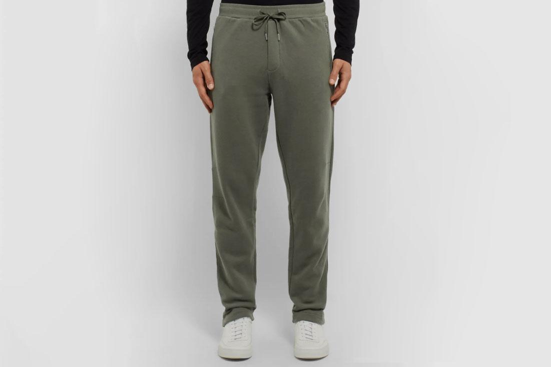 Sunspel Slim-Fit Fleece-Back Cotton and Cashmere-Blend Jersey Sweatpants