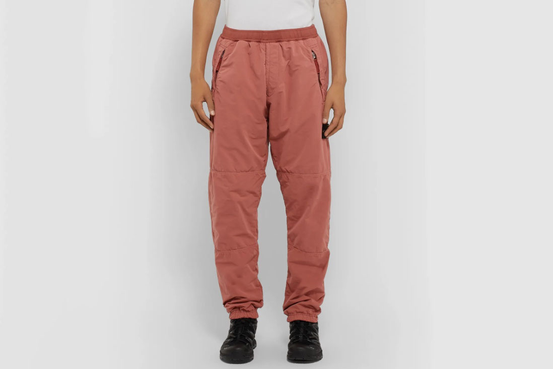 Stone Island Logo-Appliquéd Garment-Dyed Fleece-Back David-TC Sweatpants