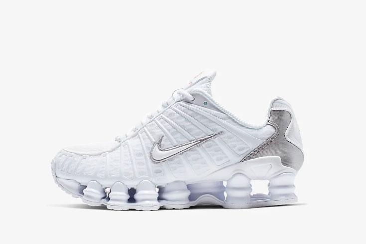 Nike White Shox Total Sneakers