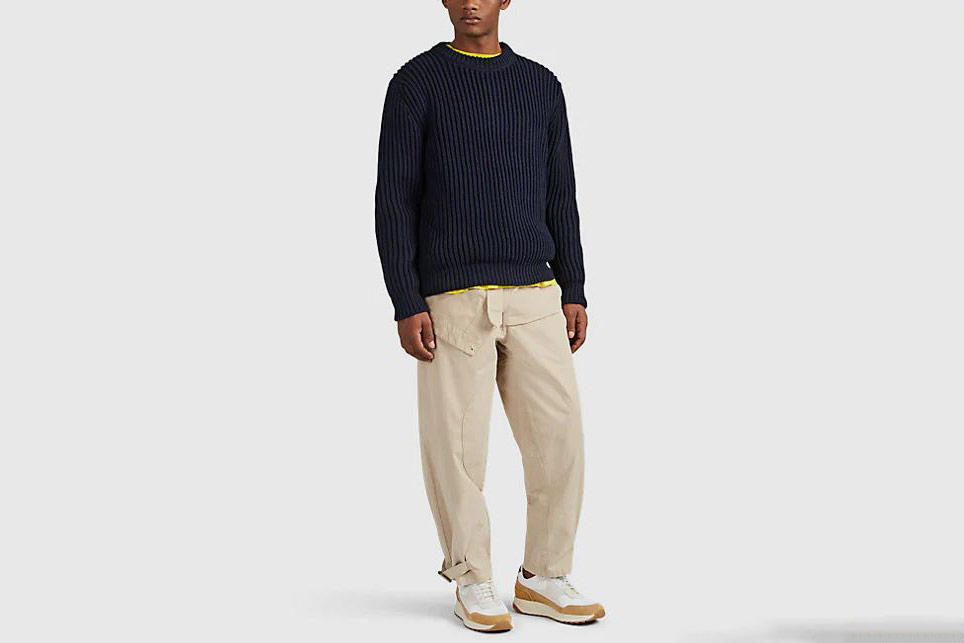 Acne Keene Rib-Knit Cotton-Blend Sweater