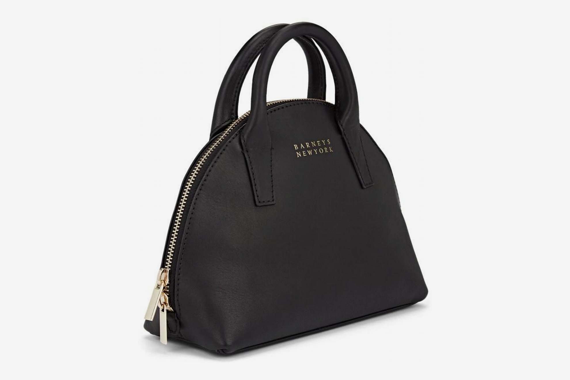 Barneys New York Mini Leather Bowler Bag