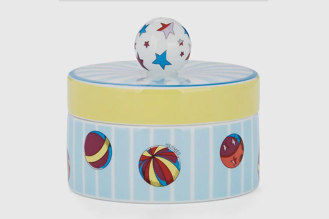 Hermès Circus Porcelain Small Round Box
