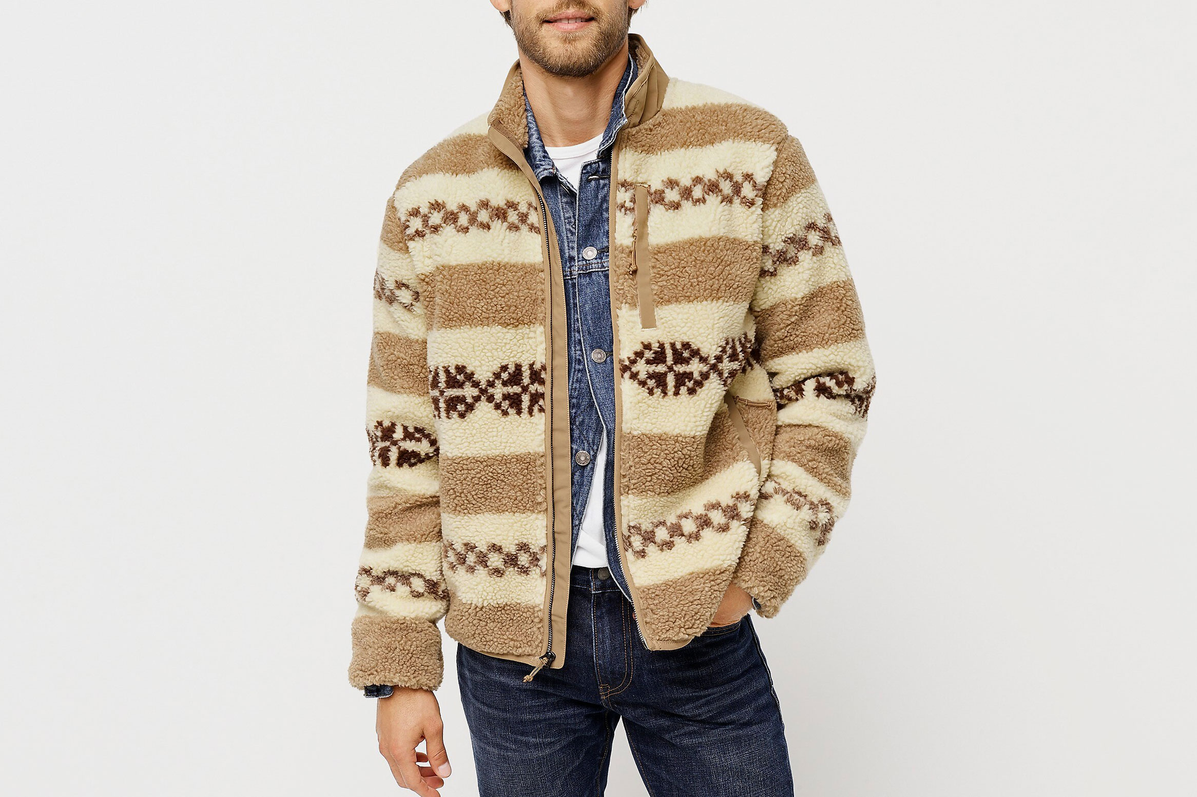 J.Crew Nordic Sherpa Fleece Jacket