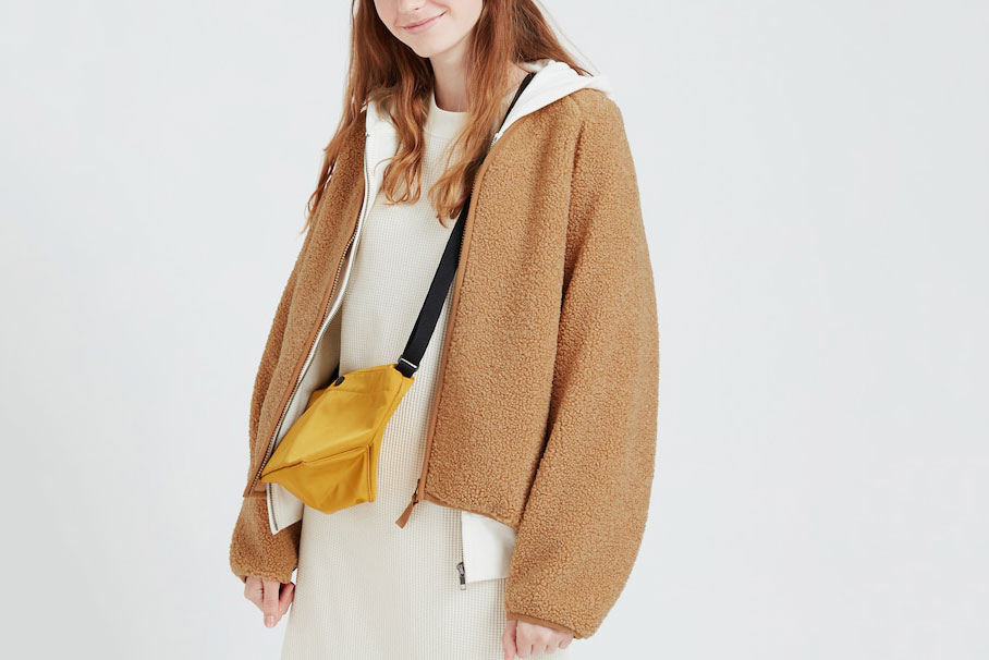 Uniqlo Pile-Lined Fleece V-Neck Cardigan