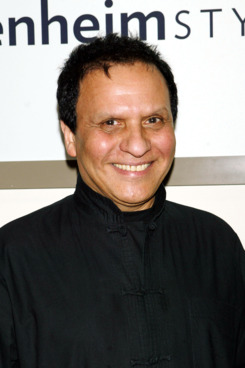 NEW YORK - MAY 20: Designer Azzedine Alaia poses during held in his honor at the Guggenheim Museum May 20, 2004 in New York City.  (Photo by Scott Gries/Getty Images)