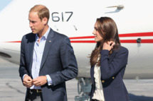 YELLOWKNIFE, NT - JULY 06:  Catherine, Duchess of Cambridge and Prince William, Duke of Cambridge board a Canadian Airforce jet to Slave Lake at Yellowknife Airport on July 6, 2011 in Yellowknife, Canada. The newly married Royal Couple are on the seventh day of their first joint overseas tour. The 12 day visit to North America is taking in some of the more remote areas of the country such as Prince Edward Island, Yellowknife and Calgary. The Royal couple started off their tour by joining millions of Canadians in taking part in Canada Day celebrations which mark Canada's 144th Birthday.  (Photo by Chris Jackson/Getty Images)