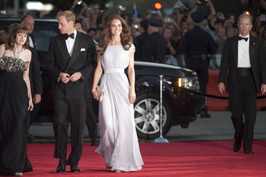 LOS ANGELES, CA - JULY 09:  Catherine, Duchess of Cambridge and Prince William, Duke of Cambridge arrive at the 2011 BAFTA Brits To Watch Event at the Belasco Theatre on July 9, 2011 in Los Angeles, California. The newlywed Duke and Duchess of Cambridge were in attendance on the ninth day of their first joint overseas tour visiting Canada and the United States. (Photo by Mark Large - Pool/Getty Images)
