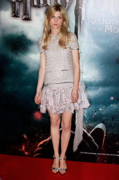 PARIS, FRANCE - JULY 12:  Clemence Poesy attends the 'Harry Potter and the Deathly Hallows, Part 2' premiere at Palais Omnisports de Bercy on July 12, 2011 in Paris, France.  (Photo by Kristy Sparow/WireImage)