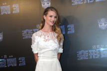 "SHANGHAI, CHINA - JULY 14:  (CHINA OUT) Actress Rosie Huntington-Whiteley attends ""Transformers: Dark of the Moon"" press conference at Waldorf Astoria Shanghai on July 14, 2011 in Shanghai, China.  (Photo by ChinaFotoPress/Getty Images)"