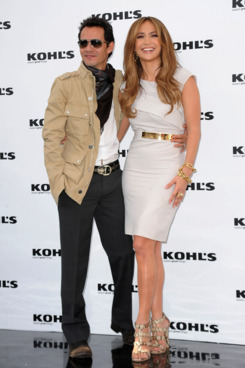 WEST HOLLYWOOD, CA - NOVEMBER 18:  Actress/singer Jennifer Lopez and actor/singer Marc Anthony pose at the Kohl's press conference announcement on November 18, 2010 in West Hollywood, California.  (Photo by Jason Merritt/Getty Images)
