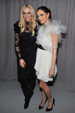 NEW YORK, NY - FEBRUARY 16:  Designers Keren Craig and Georgina Chapman attend the Marchesa Fall 2011 presentation during Mercedes-Benz Fashion Week at Center 548 on February 16, 2011 in New York City.  (Photo by Henry S. Dziekan III/Getty Images)
