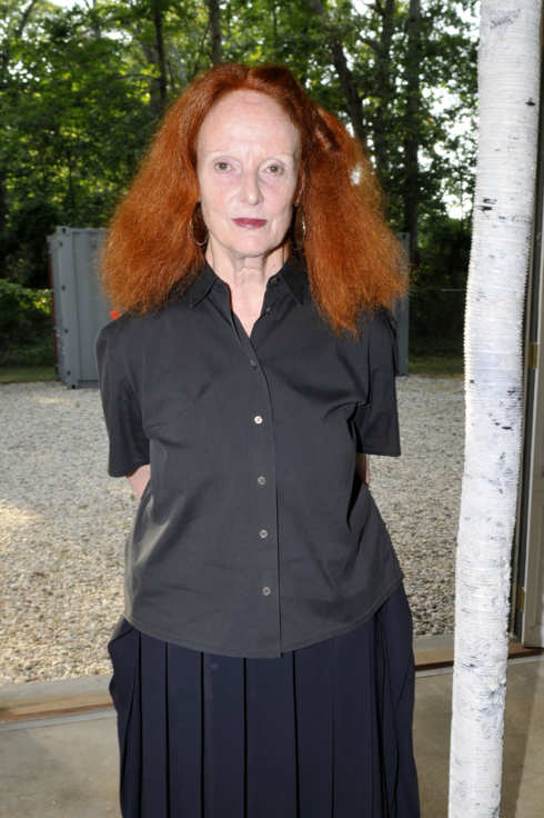 Grace Coddington== MAKE IT HARD A Solo Exhibition by HELMUT LANG Presented by NEVILLE WAKEFIELD== The Fireplace Project, Easthampton, NY== July 23, 2011== ?Patrick McMullan== Photo-JONATHON ZIEGLER/PatrickMcMullan.com== ==