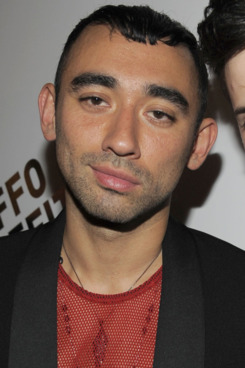 Nicola Formichetti, Spilios Gianakopoulos==BOFFO Benefit 2011==HL23: 515 W 23rd St, NYC==July 18, 2011==?Patrick McMullan==Photo - CLINT SPAULDING/PatrickMcMullan.com== ==