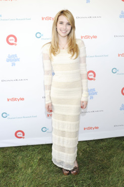 WATER MILL, NY - JULY 30:  Emma Roberts attends Super Saturday 14 To Benefit OCRF Hosted By Emma Roberts, Kelly Ripa, Donna Karan & Instyle at Nova's Ark Project on July 30, 2011 in Water Mill, New York.  (Photo by Eugene Gologursky/Getty Images for OCRF)