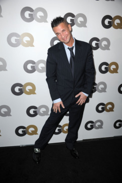 "LOS ANGELES, CA - NOVEMBER 17:  TV personality Mike 'The Situation' Sorrentino  arrives at the GQ 2010 ""Men of the Year"" held at Chateau Marmont on November 17, 2010 in Los Angeles, California.  (Photo by Frazer Harrison/Getty Images)"
