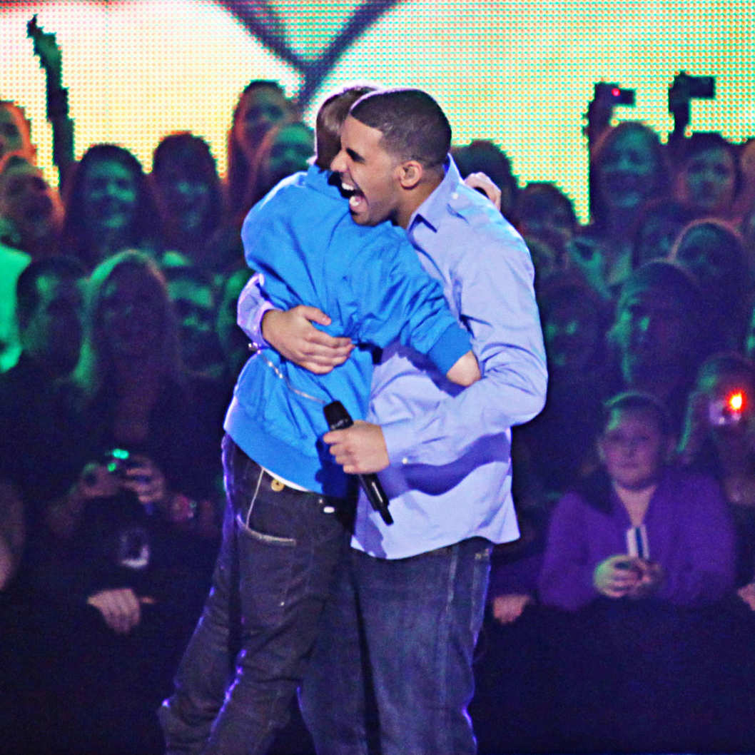 Justin Bieber and Drake perform duet at the Juno Music Awards in St Johns, Newfoundland. Justin performed his new hit 'Baby' and Drake surprised the crowd by performing alongside the teen sensation.  <P> Pictured: Justin Bieber and Drake  <P> <B>Ref: SPL173500  190410  </B><BR/> Picture by: R Chiang / Splash News<BR/> </P><P> <B>Splash News and Pictures</B><BR/> Los Angeles:	310-821-2666<BR/> New York:	212-619-2666<BR/> London:	870-934-2666<BR/> photodesk@splashnews.com<BR/> </P>