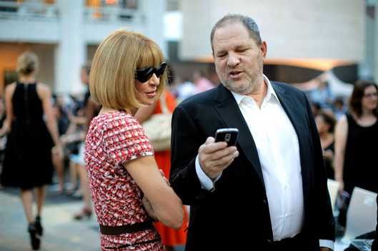 NEW YORK - SEPTEMBER 07: Editor-in-Chief of Anna Wintour and producer Harvey Weinstein attend Fashion's Night Out: The Show at Lincoln Center on September 7, 2010 in New York City.  (Photo by Jemal Countess/Getty Images for Conde Nast)