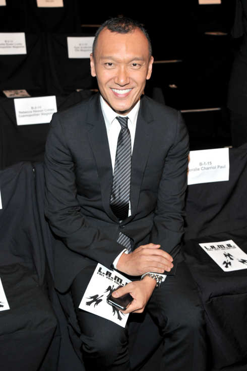 NEW YORK, NY - FEBRUARY 17:  Creative Director of ELLE, Joe Zee attends the L.A.M.B. Fall 2011 fashion show during Mercedes-Benz Fashion Week at The Theatre at Lincoln Center on February 17, 2011 in New York City.  (Photo by Stephen Lovekin/Getty Images for IMG)