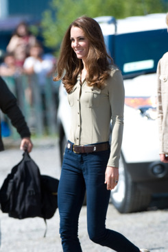 Catherine, Duchess of Cambridge board a float plane at the Old Town Float Base on day 6 of the Royal Couple's North American Tour, July 5 2011 in Yellowknife, Canada.