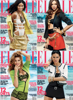 Elle's October covers.