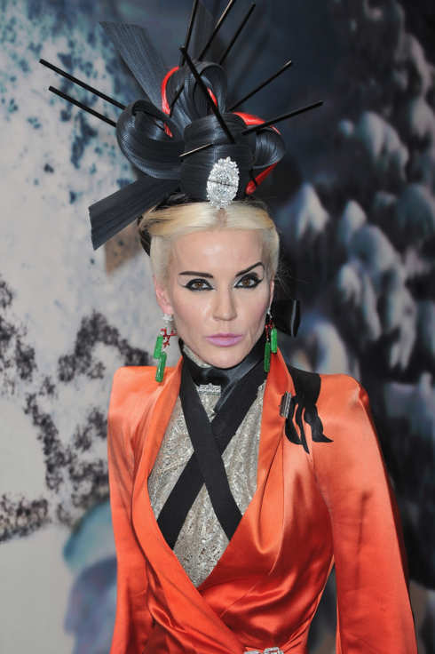 CRESPIERES, FRANCE - JULY 06:  Daphne Guinness attends 'The White Fairy Tale Love Ball' in Support Of 'The Naked Heart Foundation' at Chateau De Wideville on July 6, 2011 in Crespieres, France.  (Photo by Pascal Le Segretain/Getty Images)