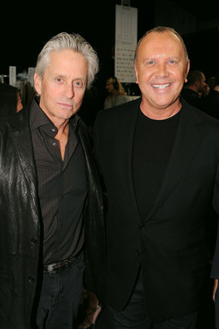 NEW YORK, NY - SEPTEMBER 14:  Michael Douglas and designer Michael Kors attend the Michael Kors Spring 2012 fashion show during Mercedes-Benz Fashion Week at The Theater at Lincoln Center on September 14, 2011 in New York City.  (Photo by Dimitrios Kambouris/WireImage)
