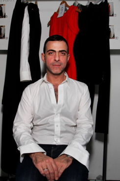 SINGAPORE - MAY 17:  Designer Antonio Berardi poses backstage ahead of his show during Audi Fashion Festival Singapore 2011 at Tent@Orchard on  May 17, 2011 in Singapore.  (Photo by Lisa Maree Williams/Getty Images for Audi Fashion Festival)