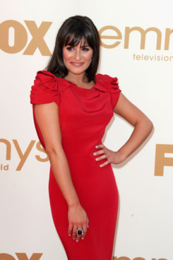 LOS ANGELES, CA - SEPTEMBER 18:  Actress Lea Michele arrives at the 63rd Annual Primetime Emmy Awards held at Nokia Theatre L.A. LIVE on September 18, 2011 in Los Angeles, California.  (Photo by Kevin Winter/Getty Images)