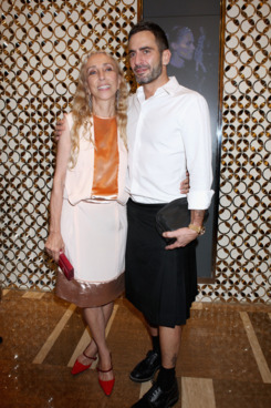 MILAN, ITALY - SEPTEMBER 21:  Carla Sozzani (L) and Marc Jacobs  attend the Louis Vuitton flagship store opening during Milan Fashion Week Womenswear Spring/Summer 2012 on September 21, 2011 in Milan, Italy.  (Photo by Vincenzo Lombardo/Getty Images)