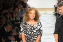 NEW YORK, NY - SEPTEMBER 11:  Designer Diane Von Furstenberg walks the runway at the Diane Von Furstenberg Spring 2012 fashion show during Mercedes-Benz Fashion Week at The Theater at Lincoln Center on September 11, 2011 in New York City.  (Photo by Frazer Harrison/Getty Images for Mercedes-Benz Fashion Week)