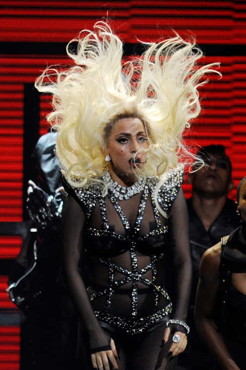 LAS VEGAS, NV - SEPTEMBER 24:  Singer Lady Gaga performs at the iHeartRadio Music Festival at the MGM Grand Garden Arena September 24, 2011 in Las Vegas, Nevada.  (Photo by Ethan Miller/Getty Images for Clear Channel)