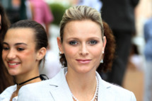 "Princess Charlene of Monaco arrives to take part in the ""Pique Nique Monegasque"" (Monaco's picnic), on September 10, 2011 in Monaco.  AFP PHOTO VALERY HACHE (Photo credit should read VALERY HACHE/AFP/Getty Images)"