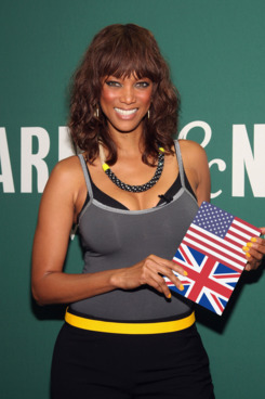 "NEW YORK, NY - SEPTEMBER 21:  Tyra Banks promotes her new book ""Modelland"" at Barnes & Noble at Union Square on September 21, 2011 in New York City.  (Photo by Paul Zimmerman/Getty Images)"