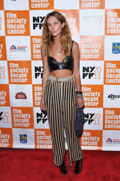 "NEW YORK, NY - OCTOBER 09:  Model Erin Wasson attends the 49th annual New York Film Festival presentation of ""My Week With Marilyn"" at Alice Tully Hall, Lincoln Center on October 9, 2011 in New York City.  (Photo by Marc Stamas/Getty Images)"