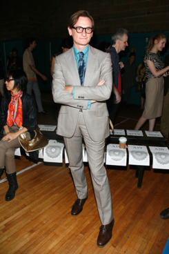 NEW YORK, NY - SEPTEMBER 15:  Hamish Bowles attends the threeASFOUR Spring 2012 fashion show during Mercedes-Benz Fashion Week at St. Patrick's Old Cathedral Youth Center on September 15, 2011 in New York City.  (Photo by Andy Kropa/Getty Images)