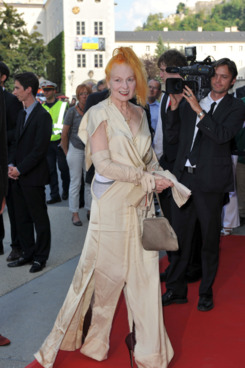 SALZBURG, AUSTRIA - AUGUST 05:  Vivienne Westwood attends the Premiere of Cosi Fan Tutte at the Haus fuer Mozart on August 5, 2011 in Salzburg, Austria.  (Photo by Hannes Magerstaedt/Getty Images)