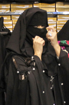 Kim Kardashian goes incognito in Dubai as she wears burqa with her mom, Kris Jenner, as they shopped in the local gold district. Kim had a blast with her mom inside the store as they were fitted in the traditional burqa outfit. Kris Jenner even got her large eyelash stuck in the burqa wrap and had then just decided to wear the outfit more opened up once they hit the chaotic fan filled streets of Dubai again. Kim's security team had to all hold hands at one point to keep them safe and all together in one big unit as they fans were yelling and cheering literally in the streets for the reality stars. <P> Pictured: Kim Kardashian and Kris Jenner <P> <B>Ref: SPL325133  131011  </B><BR/> Picture by: Brian Prahl / Splash News<BR/> </P><P> <B>Splash News and Pictures</B><BR/> Los Angeles:310-821-2666<BR/> New York:212-619-2666<BR/> London:870-934-2666<BR/> photodesk@splashnews.com<BR/> </P>