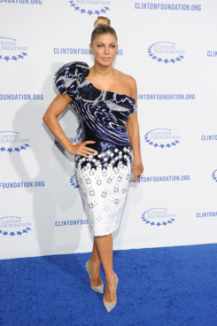 "LOS ANGELES, CA - OCTOBER 14:  Singer Fergie arrives at The Clinton Foundation's ""A Decade Of Difference"" Gala at The Hollywood Palladium on October 14, 2011 in Los Angeles, California.  (Photo by Michael Buckner/Getty Images)"
