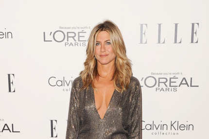 LOS ANGELES, CA - OCTOBER 17:  Actress Jennifer Aniston arrives at ELLE's 18th Annual Women in Hollywood Tribute held at the Four Seasons Hotel on October 17, 2011 in Los Angeles, California.  (Photo by Jason Merritt/Getty Images)