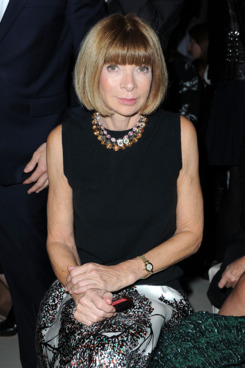 PARIS, FRANCE - OCTOBER 04:  Anna Wintour attends the Alexander McQueen Ready to Wear Spring / Summer 2012 show during Paris Fashion Week  on October 4, 2011 in Paris, France.  (Photo by Pascal Le Segretain/Getty Images)