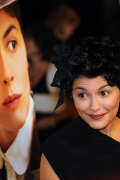 "Actress Audrey Tautou poses on the red carpet at the premiere of her Sony Pictures movie ""Coco Before Chanel"" at the Silver Screen theatre in Los Angeles on September 9, 2009.  The film portrays the formative years of Gabrielle ""Coco"" Chanel who began life as an orphan before becoming a couturier and role model for women worldwide.       AFP PHOTO/Mark RALSTON (Photo credit should read MARK RALSTON/AFP/Getty Images)"