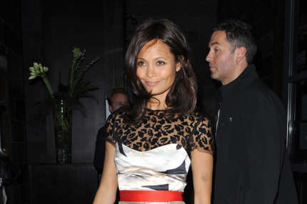 'Death and Maiden' Press night in London, UK. <P> Pictured: Thandie Newton <P> <B>Ref: SPL328870  241011  </B><BR/> Picture by: Olga Bermejo/Splash News<BR/> </P><P> <B>Splash News and Pictures</B><BR/> Los Angeles:	310-821-2666<BR/> New York:	212-619-2666<BR/> London:	870-934-2666<BR/> photodesk@splashnews.com<BR/> </P>