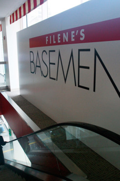 NEW YORK - MAY 04:  A Filene's Basement store is seen May 4, 2009 in New York City. Filene?s filed for Chapter 11 bankruptcy protection today, the second time the clothing store has done so in the past decade.  (Photo by Mario Tama/Getty Images)