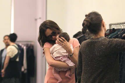 Victoria Beckham and baby Harper Beckham shop at Marc Jacobs in NYC. Victoria was showing off her young baby daughter Harper Beckham while shopping at Marc Jacobs in NYC's SoHo neighborhood on Thursday evening. Victoria couldn't help but shower her daughter with affection throughout the shopping trip. At one point Victoria lovingly kissed her daughter's forehead. <P> Pictured: Victoria Beckham and Harper Beckham <P> <B>Ref: SPL316350  150911  </B><BR/> Picture by: Tom Meinelt-Jason Winslow/Splash News<BR/> </P><P> <B>Splash News and Pictures</B><BR/> Los Angeles:310-821-2666<BR/> New York:212-619-2666<BR/> London:870-934-2666<BR/> photodesk@splashnews.com<BR/> </P>