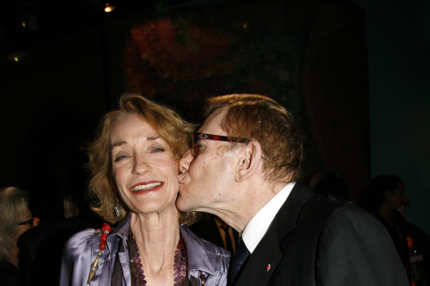 PARIS- OCTOBER 2:  Loulou de la Falaise and Yves Saint-Laurent attend the gala dinner at the Yves Saint Laurent Foundation on October 2, 2006 in Paris, France. (Photo by Eric Ryan/Getty Images)