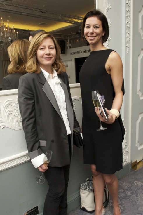 American Vogue's Sarah Mower at the Dorchester Collection Fashion Prize award ceremony at The Dorchester on October 19, 2010 in London, England.