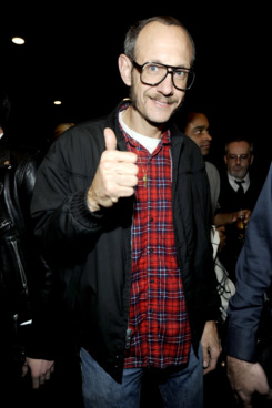 NEW YORK, NY - NOVEMBER 08: Terry Richardson attends the Versace for H&M Fashion event at the H&M on the Hudson on November 8, 2011 in New York City. (Photo by Rabbani and Solimene Photography/Getty Images for Versace for H&M)