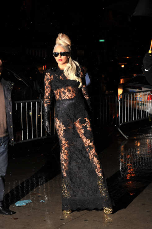 "Lady Gaga attends the ""Lady Gaga x Terry Richardson"" book launch party at The New Museum on November 22, 2011 in New York City"